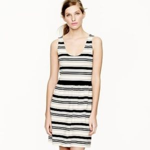 J. Crew Villa Dress Stripe Black White M Tank Top
